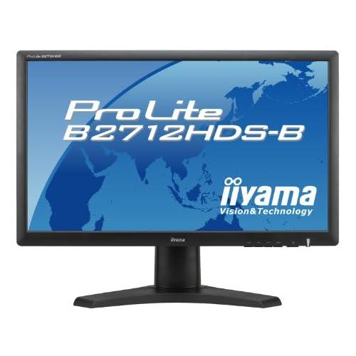 iiyama 27インチワイド液晶ディスプレイ 1920×1080(フルHD1080P)対応 3系統入力装備 昇降スタンド付き マーベルブラック PLB2712HDS-B1
