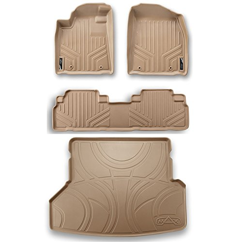 Daily Cheap Maxliner Maxfloormat Complete Set Custom Fit All Weather Floor Mats For Select Lexus Rx Models Tan Wesale Me