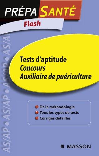 Flash Tests d'aptitude Concours Auxiliaire de puériculture