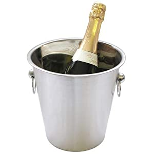 Champagne Ice Bucket - S.Steel - Brushed Plain from Crystal Edge Ltd