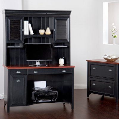 Buy Low Price Comfortable Bush Stanford Computer Desk with Optional Hutch and Filing Cabinet – BHI117 (B003DVT43M)