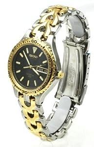 Seiko Watches Seiko Two-Tone Date 100m Water Resistant Men's Watch