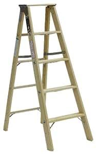 Michigan Ladder 1320-05 300 Pound Duty Rating Type 1A Tradesman Wood Stepladder, 5-Foot