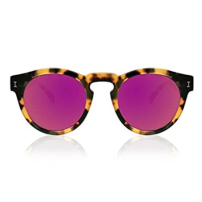 Illesteva Leonard Tortoise With Pink Mirrored Lenses