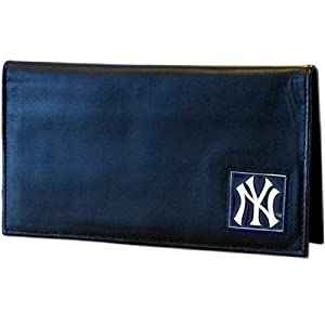 MLB New York Yankees Deluxe Leather Checkbook Cover by Siskiyou Sports