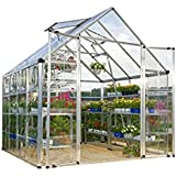 Palram Snap & Grow 8' Series Hobby Greenhouse - 8 x 8 x 9 Silver