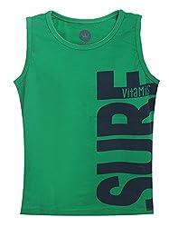 Vitamins Boys' T-Shirt (08Tb-514-5-Z.Green_Dark Green_5 - 6 Years)