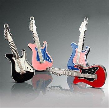 Metal Jewelry Necklace Electric Guitar Usb Flash Drives Flash Disk Pen Drive Flash Memory Lanyard