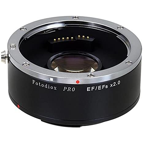 Fotodiox Pro Autofocus 2x Teleconverter - AF Doubler x2.0 for Canon EOS EF EF-S Camera and Lens (APS-C & Full Frame) at amazon