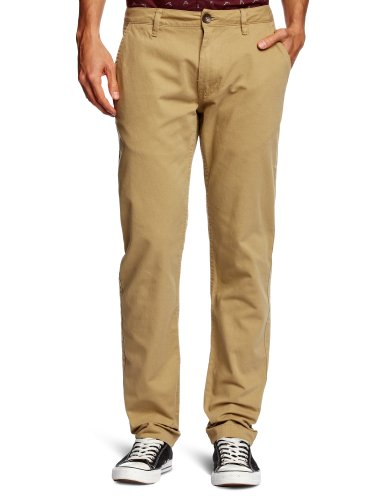 Addict Standard Chino Straight Men's Trousers Kahki W30INxL32IN