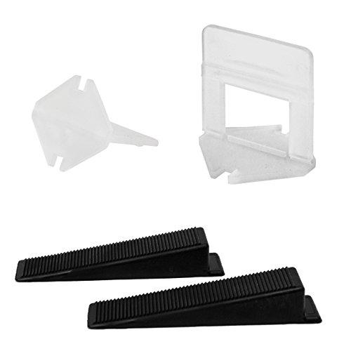 Fliesen-Fix-Verlegen-2-mm-Profi-Set-Neues-Fliesennivelliersystem-mit-Keilen-und-Zuglaschen-Zur-Montage-auch-ohne-Zange-Kompatibel-mit-anderen-Systemen-wie-KaroFit