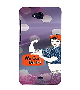 PrintVisa Stylish Cool Girl Attitude 3D Hard Polycarbonate Designer Back Case Cover for Micromax Canvas Play Q355