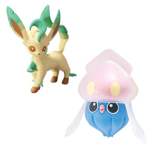 Pokémon 2 Pack Small Figures Inkay vs Leafeon