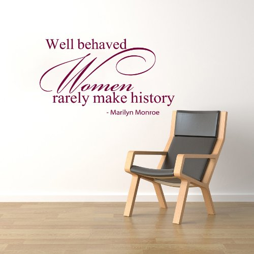 Housewares Vinyl Decal Marilyn Monroe Quote Well Behaved Women Rarely Make History Home Wall Art Decor Removable Stylish Sticker Mural Unique Design For Any Room front-239472