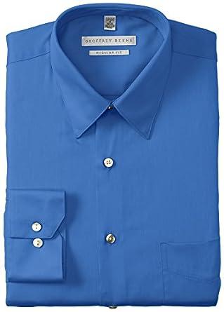 Geoffrey Beene Wrinkle Free Sateen Dress Shirt | Bluebird 14 1/2 x 32/33