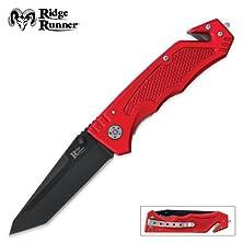 buy Ridge Runner Red Rescue Tac Folding Knife