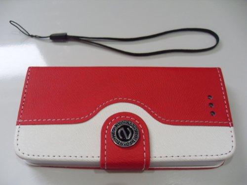 c63-r-rosso-pro-iphone-5-5s-custodia-a-portafoglio-con-carte-e-bottone-magnetico-chiusura-con-tracol