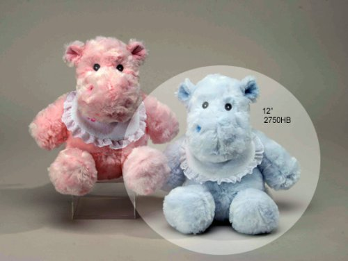 "Blue Hippo Rattle 12"" by Unipak"