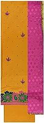 Gunjan Women's Cotton Silk Unstitched Salwar Suit (Yellow & Pink)