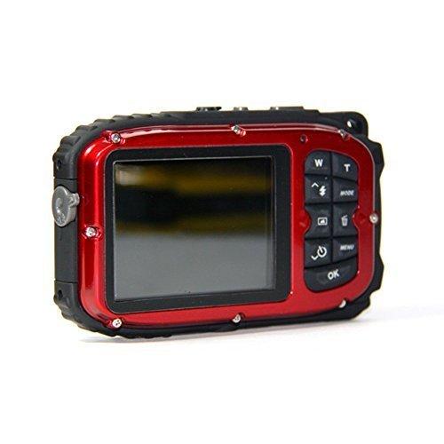PowerLead Gapo G051 2.7 Inch LCD Cameras16 MP Digital Camera Underwater 10m Waterproof Camera+ 8x Zoom(red) (Best Underwater Digital Camera compare prices)