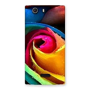 Rose Droplets Multicolor Back Case Cover for Canvas Nitro 2 E311