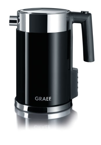 Graef 1.5 Litre Acrylic Temperature Kettle, Black