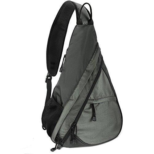 Shoulder Chest Crossbody Sling Bag Pack Backpack for Men Women Girls Boys (Gray) (Side Backpack For Women compare prices)