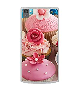 Tempting Cup Cakes 2D Hard Polycarbonate Designer Back Case Cover for OnePlus X :: One Plus X :: One+X