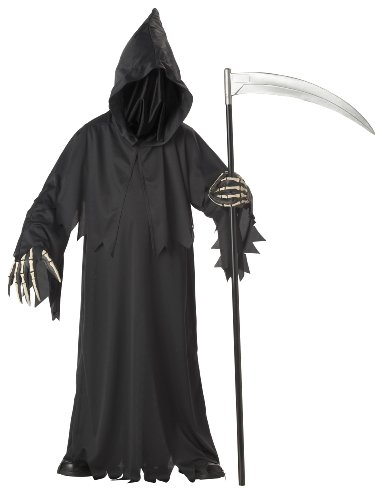 Grim Reaper Deluxe with Vinyl Hands Child Costume - Kid's Costumes