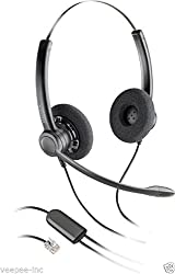 Plantronics Practica SP12 RJ 9 Binaural Noise-Canceling Headset for Avaya 1608