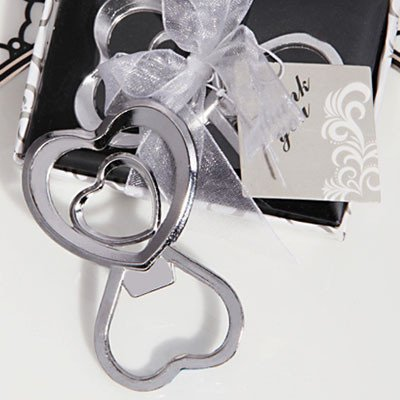 Two Hearts Entwined As One Metal Bottle Opener-1471-DC