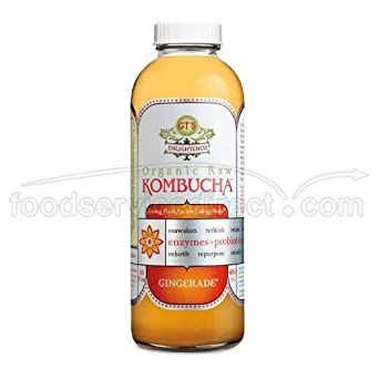 Amazon.com : GTs Enlightened Organic Raw Kombucha Gingerade, 16 Ounce