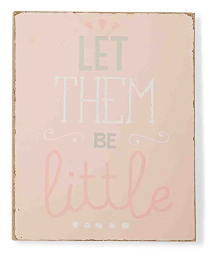 Mud Pie Plaque, Let Them Be Little, Pink