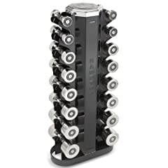 Buy Hampton Fitness Chrome-Beauty Grip 8 Pair Dumbbell Set with V2-8 Rack by Hampton