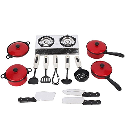 [13 Sets^^^ Children Play House Toys Simulation Kitchen Utensils Play Cooking Ability] (Social King Costume)