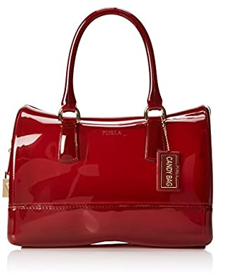 FURLA Candy Medium Satchel Handbag,Cabernet,One Size
