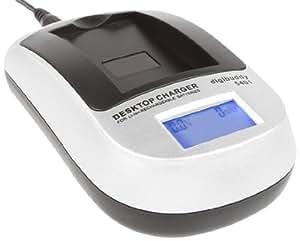 Delamax Chargeur Digibuddy à écran LCD pour Sony NP-BG1/NP-FG1