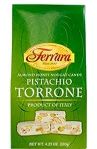 Amazon.com : Ferrara - Italian Pistachio Torrone (Almond Honey Nougat ...