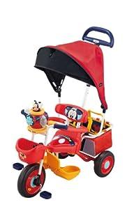 アイベーシック ポップンカーゴ三輪車 ミッキーマウス レッド