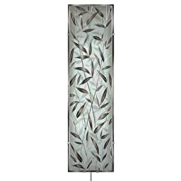 Head West Illuminada Bamboo Grove II Glass Wall Art with Mirrored Accents, 37-1/2-Inch by 10.25-Inch