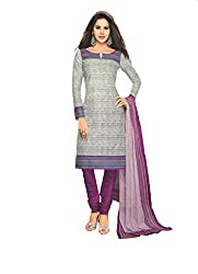 M.S. Boutique - Unstitched Cotton Dress Material - Gray - (MS-SBT-227)