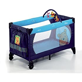 Dream N Play Travel Cot in Pooh melon - Disney