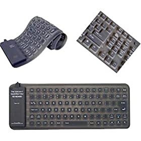 Adesso AKB-210 85KEY USB PS2 MINI FLEXIBLE SPILLPROOF KEYBOARD BLACK