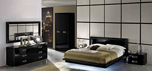 1PerfectChoice LA STAR COMPOSITION MODERN ITALIAN 5 PCS CALIFORNIA KING BED SET (Italian Bed Furniture compare prices)