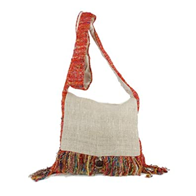 Silly yogi hemp and recycled silk purse: Multi - One Size