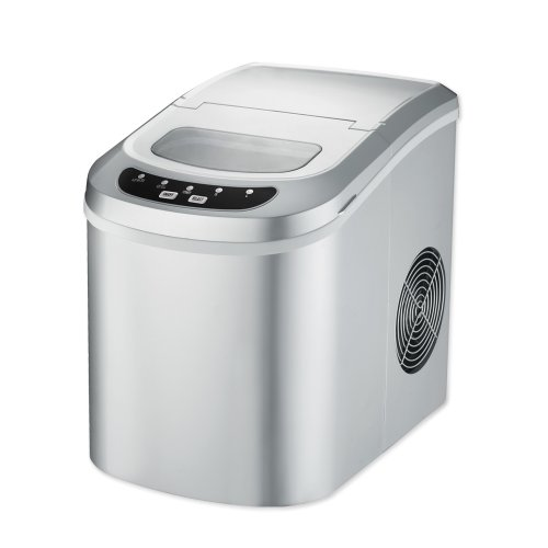 TecTake Deluxe Ice Maker Machine silver