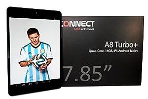 CONNECT A8 TurboPlus Tablette Tactile - Bleu - 7.85 pouces IPS écran capacitif, Quad Core 1.5GHz, Android 4.2, 16Go de Stockage, OGS, XGA Screen, HDMI, Dual Caméra, Bluetooth, WIFI