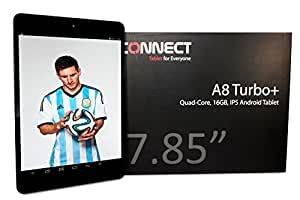 CONNECT A8 TurboPlus Tablette Tactile - Bleu - 7.85 pouces IPS écran capacitif, Quad Core 1.5GHz, Android 4.2, 16Go de Stockage, OGS, XGA Screen, HDMI, Dual Caméra, Bluetooth, WIFI