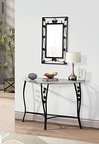 Home Source Florence Mirror & Chrome Console Sofa Table (Mirror For Console compare prices)