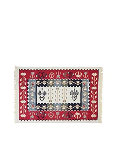 Tapis a Porter Teppich Doubleface Murad rot/elfenbein/mehrfarbig 160 x 250 cm